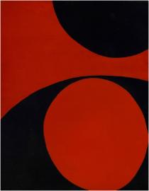June Harwood, Colorform series (Red & Black), 12, 1965, Courtesy of Louis Stern Gallery, Los Angeles
