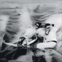 Gerhard Richter, Motorboot 1. Fassung, 1965. Loan from private collection at Gerhard Richter Archiv, Staatliche Kunstsammlungen Dresden. © Gerhard Richter, 2014.