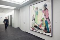 Deutsche Bank Towers, Frankfurt: Neo Rauch�s painting �Weiche�. � Courtesy Galerie Eigen + Art, Leipzig/Berlin/VG Bild-Kunst, Bonn, Photo: Frank Marburger & Klaus Helbig