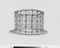"Olafur Eliasson, 360 Degree Waterfall, Proposal for ""Moment"", 2000. Deutsche Bank Collection"