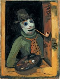 Felix Nussbaum, Maler mit Maske, c. 1935. Private collection