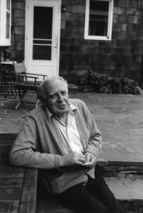 Philip Guston on the Porch at Woodstock (1980). � Renee Conforte McKee