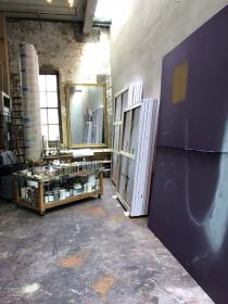 Julian Schnabel's studio. Courtesy of the Fine Arts Museums of San Francisco
